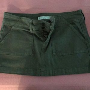 Abercrombie and Fitch olive skirt